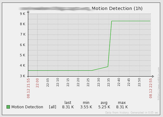 Item Shows Motion Detected