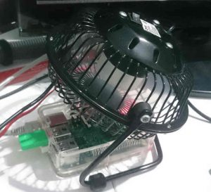 My Pi Being Cooled By A Fan